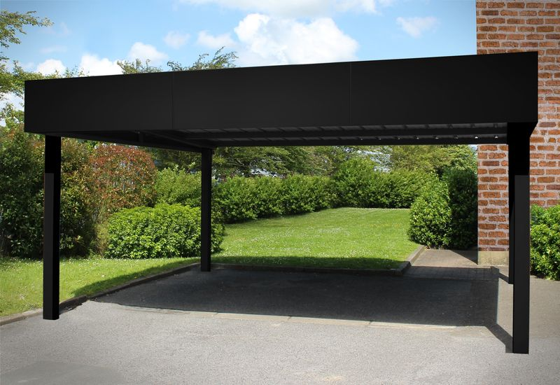 le carport esth tique et pratique la fois am nagement ext rieurs. Black Bedroom Furniture Sets. Home Design Ideas