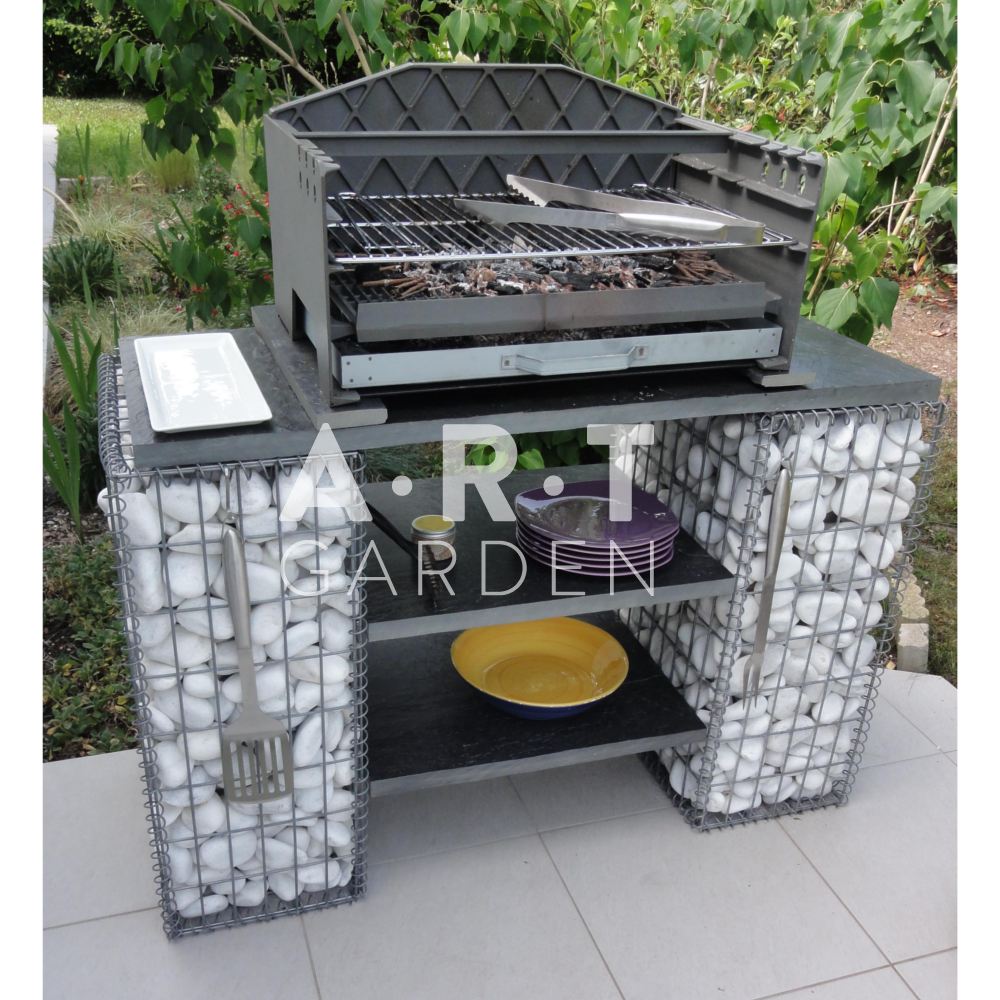 gabion pierre blanche barbecue am nagement ext rieurs. Black Bedroom Furniture Sets. Home Design Ideas
