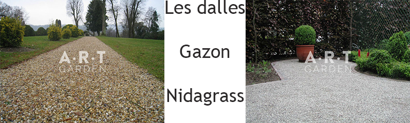 Les dalles gazon Nidagrass